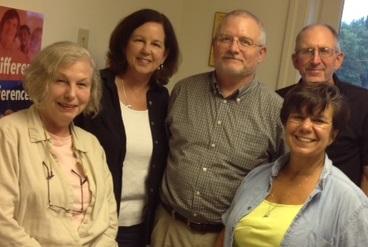 Nina Wahl, Rev. Sue Browning, Dave Moore, Patty Rubin, Don Barker.  (Sally Woodall not shown)