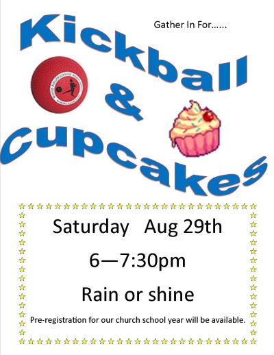 kickball and cupcakes aug 2015