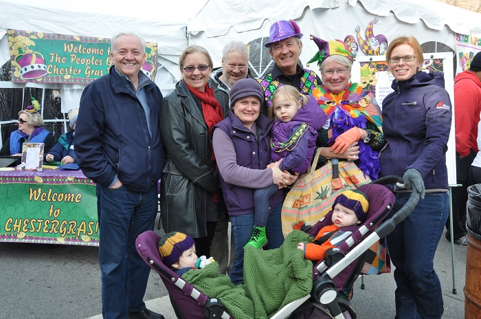 My entire family at the mardis gras celebration in Chestertown