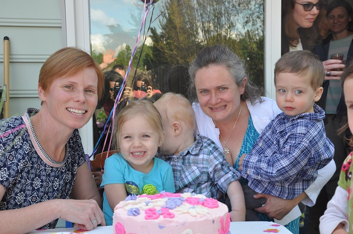 With April and the Kids - Tessa's third birthday