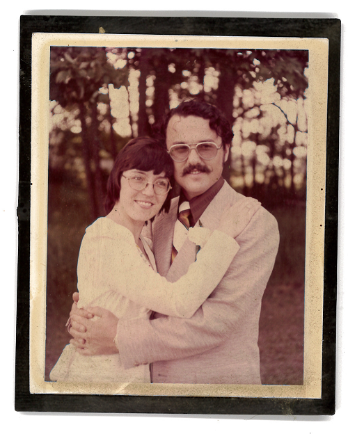 Jane and John on their wedding day in 1974, East Brunswick, New Jersey