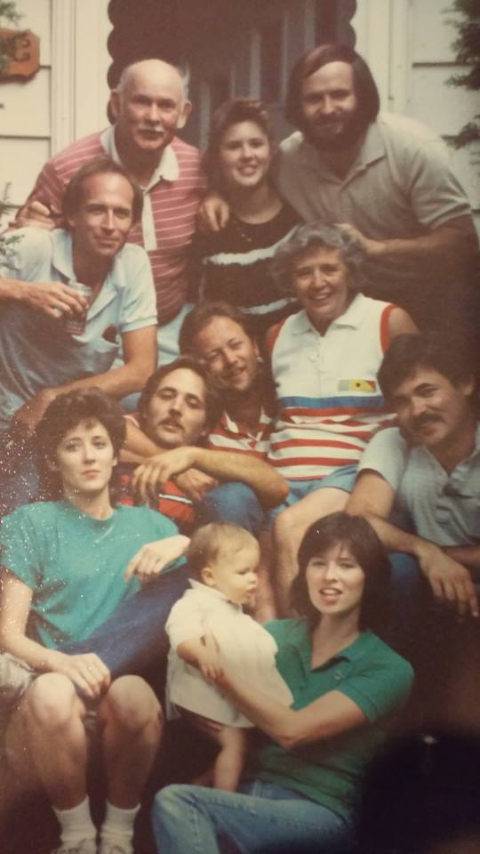 My favorite family photo of when we were younger with my Mom & Dad.  Since, my Dad and two brothers have passed.