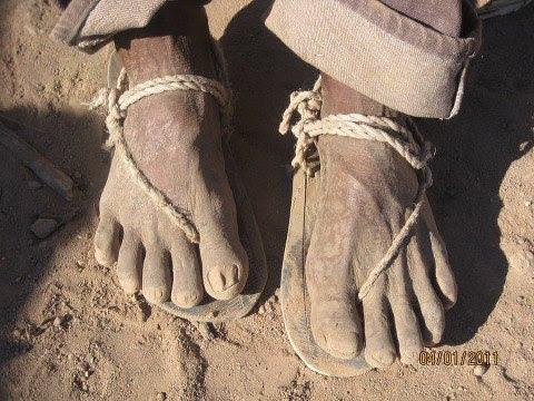 shoeless campesino