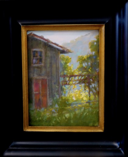 Dreams of Tuscany oil 8x6 saralindapoly