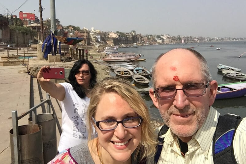 Audrey and Don at Assi Ghat, Varanasi